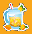 lemonade made from natural fruits sticker vector image vector image