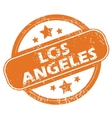 Los Angeles round stamp vector image vector image