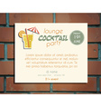 Lounge cocktail party poster invitation template vector image vector image