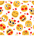 love emojis seamless pattern vector image vector image