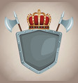 medieval army emblem vector image vector image