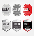 Modern Design Labels can be used for infographics vector image vector image