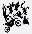 Motocross sport silhouettes vector image