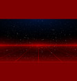 newretrowave sci-fi red laser perspective grid vector image vector image