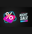 night sale special offer banner template vector image