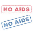 no aids textile stamps vector image vector image