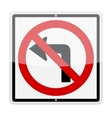 No Left Turn Sign vector image vector image