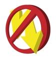 no photo flash sign icon cartoon style vector image vector image