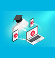 online education concept devices vector image vector image