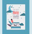 panda bearcat chinese lazy bear sleeps vector image