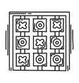 playground kids tic tac toe vector image vector image