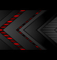 red and black contrast tech arrows background vector image vector image