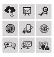 SEO internet marketing icons vector image
