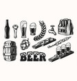 set beer elements vector image vector image