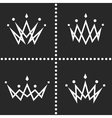 Set crowns logo monogram silhouette thin line vector image vector image