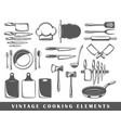set elements cooking vector image