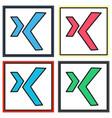 set of logo xing icon social social media social vector image vector image