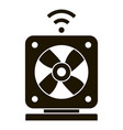 smart air fan icon simple style vector image vector image