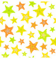 starfruit background painted pattern vector image vector image