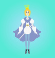 Teenager thin prince with sword vector image
