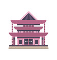 traditional asiann pagoda building vector image vector image