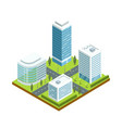 urban architecture 3d isometric icon vector image vector image