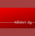 valentines day banner red linear valentines day vector image vector image