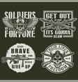 vintage military logos vector image vector image