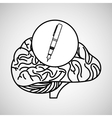 whiting brain school knowledge vector image
