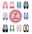 set of different models of women shoes vector image