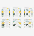 set of info-graphic four steps horizontal banner vector image