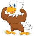 Strong eagle cartoon vector image