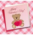 bear pink vector image