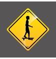 skater person sign sport extreme design vector image