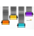 Camera Film Roll Cartrige Set vector image