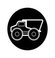 Dump truck Icons vector image