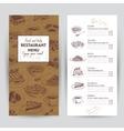 hand drawn food Restaurant vector image