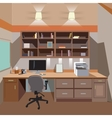 modern home office interior with desktop vector image