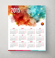 2015 year calender Hexagon pattern background vector image
