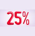 25 percent off discount creative composition 3d