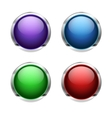 abstract empty glossy buttons vector image vector image