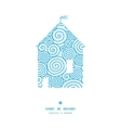abstract swirls house silhouette pattern frame vector image vector image