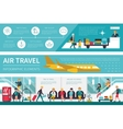 Air Travel infographic flat vector image