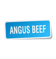 angus beef square sticker on white vector image vector image