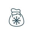 bag snowflake happy christmas line icon vector image