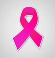 Breast cancer ribbon pink symbol vector image vector image