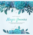 bright floral arrangement for invitation vector image vector image