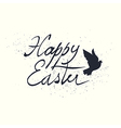 calligraphic easter lettering vector image vector image