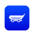 car trailer icon digital blue vector image