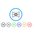 casino chip circuit icon vector image vector image
